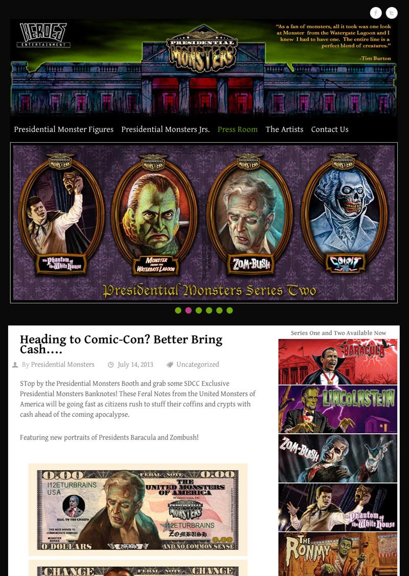 Presidential Monsters Website