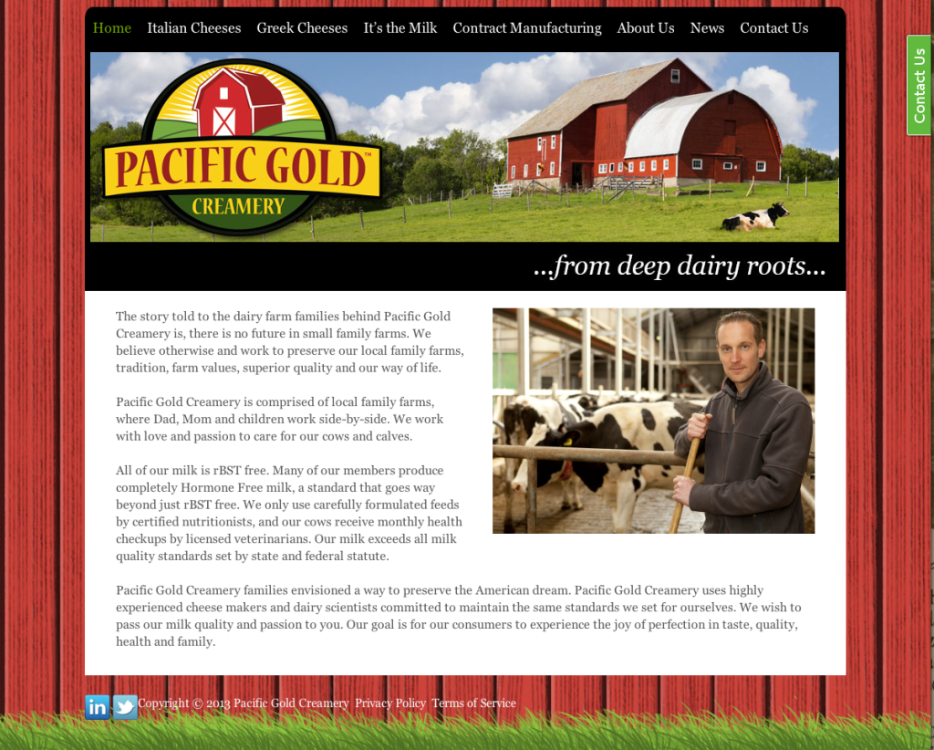 Pacific Gold Creamery