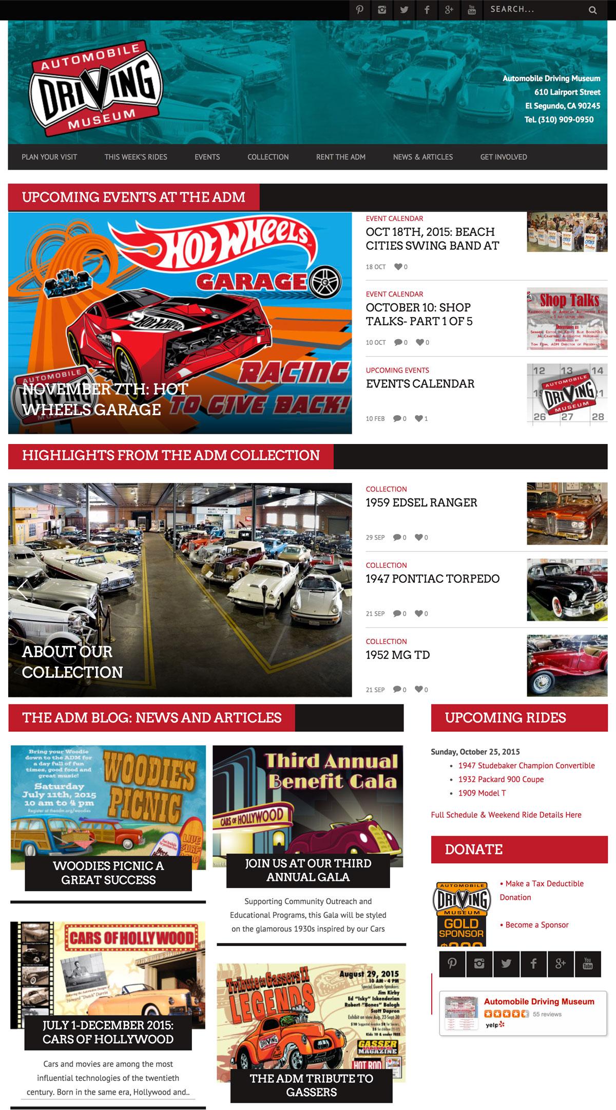 Automobile Driving Museum Web Design