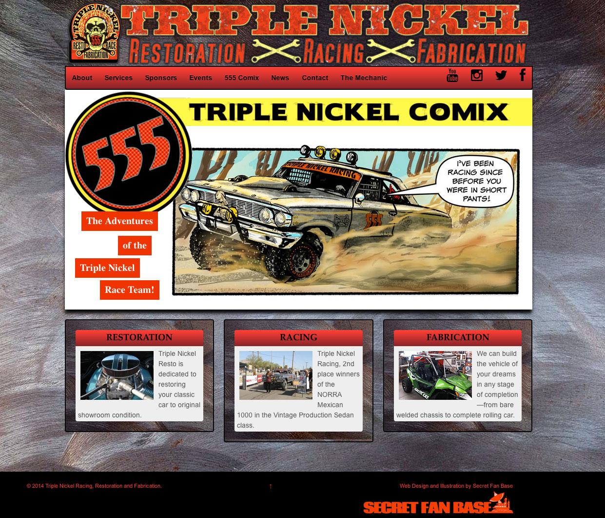 Triple Nickel Racing Website